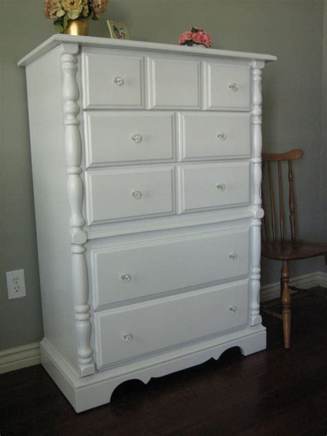 Paint A Dresser White by European Paint Finishes Shabby White Dressers