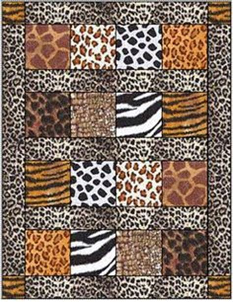 quilts on animal prints jungle animals and