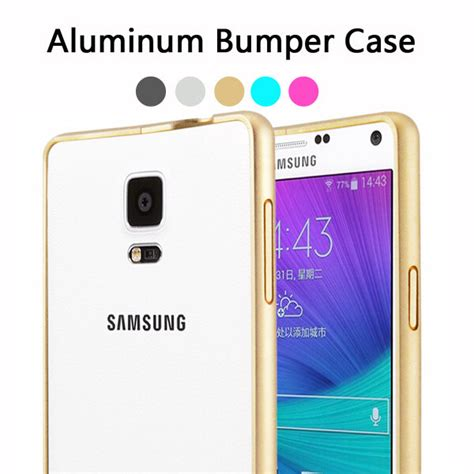 Samsung Note 4 Aluminium Metal Cover Casing Bumper Armor ultrathin luxury brand for samsung galaxy note 4 bumper aluminum metal n9100 phone