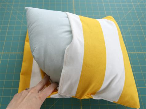 envelope back pillow case pattern diy simple envelope pillow tutorial step by step with