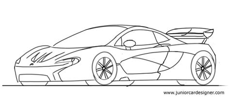 mclaren drawing draw a mclaren p1 junior car designer