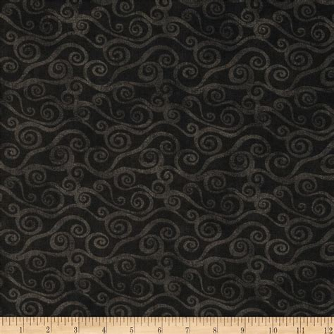 Wide Back Quilt Fabric by 108 Quot Wide Quilt Back Swirly Scroll Black Discount Designer Fabric Fabric