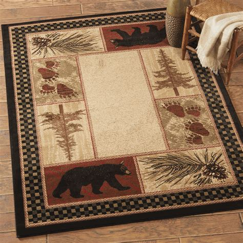 Lodge Rugs by Rugs Timber Woods Rug Collection Black Forest Decor