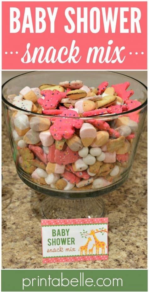 Snacks For Baby Shower by Baby Shower Snack Mix Printabelle