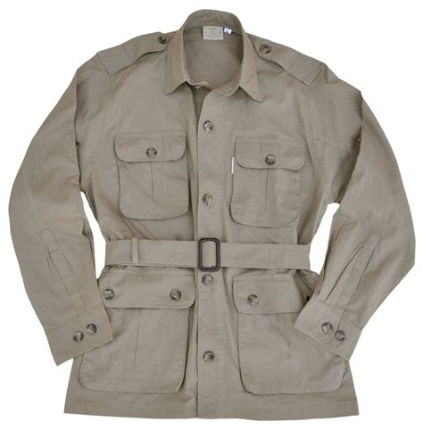 safari jacket mens khaki sizes s thru 3xl ebay