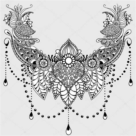 mehndy bloemen tattoo sjabloon stockvector 169 xarlyxa