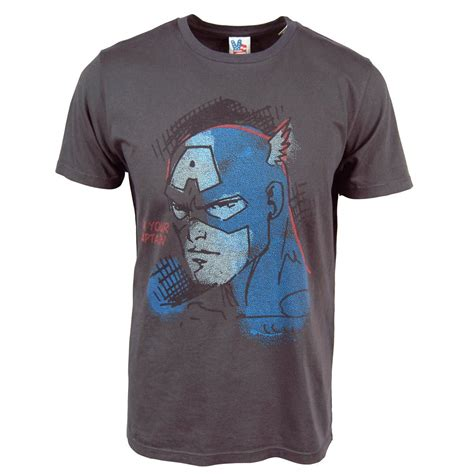 T641 Shirt New Captain America 09 junk food mens i m your captain america t shirt black
