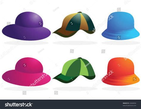 Hats On To Marc Color Shape by Accessories Different Color And Shape Hats Stock