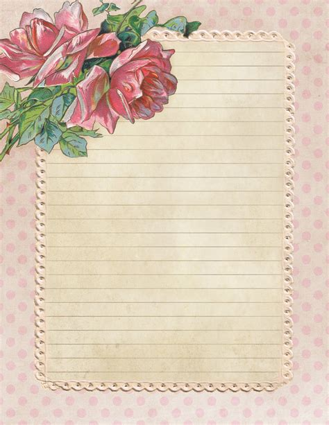 printable vintage stationery lilac lavender a garden of roses