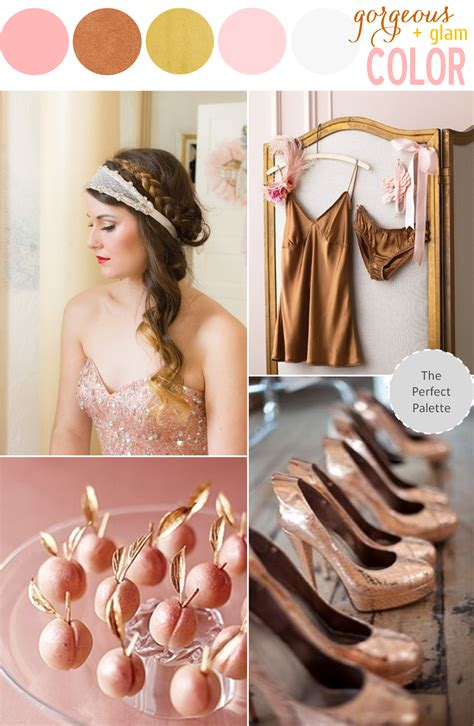trend alert pink copper design color trends pinterest newest metallic wedding trend is copper weddingdash com