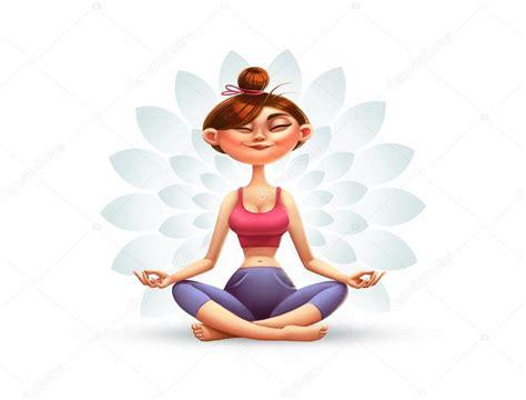 imagenes de yoga animadas yoga m 233 ditation et relaxation illustration de dessin