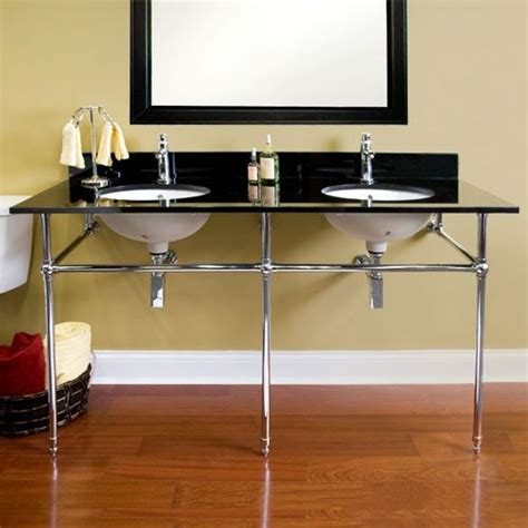 deco console sink 72 quot deco console sink with undermount bowls for
