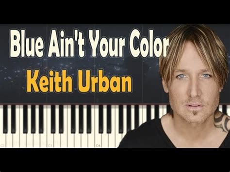your color keith blue ain t your color piano tutorial how