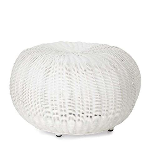 small pouf ottoman small outdoor wicker ottoman pouf 19 189 quot dia x 12 quot h in