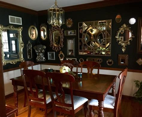 black mirrored dining room  images mirror dining