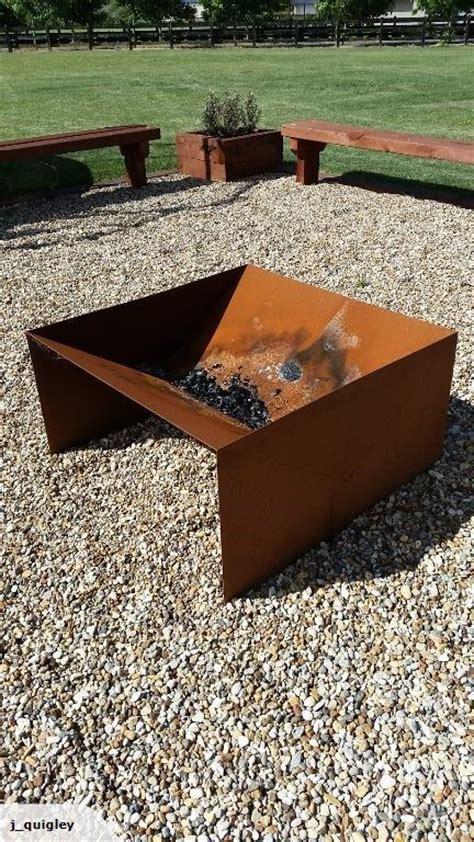 1m x 1m corten steel pit http www