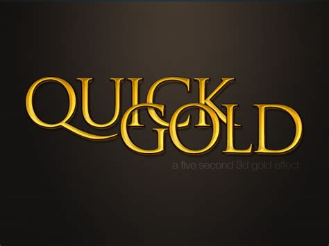 tutorial photoshop gold 6 quick n dirty photoshop text effects from scratch