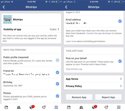 fb app how to remove an app or service from your facebook account