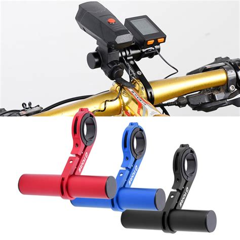 Bike Bicycle Flashlight Senter Holder Easy Mount And Ea Diskon aluminum alloy bike handlebar extension bicycle mount extender holder for light l bike