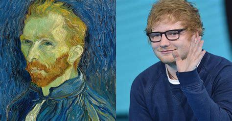 ed sheeran van gogh tattoo the internet thinks ed sheeran s portrait looks like van