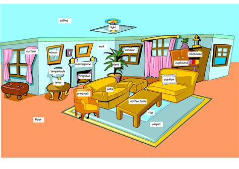 livingroom or living room living room vocabulary to learn to