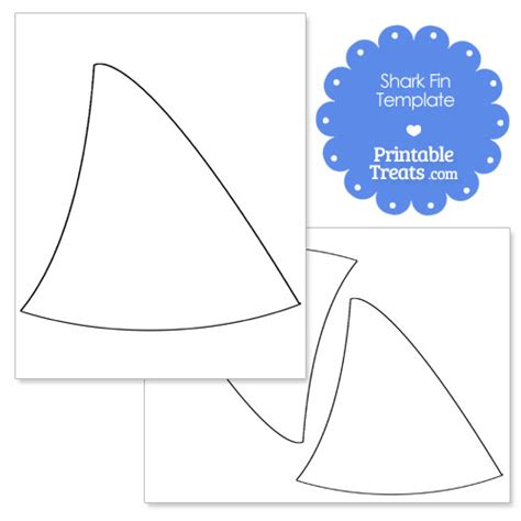 shark fin template shark fin template printable treats