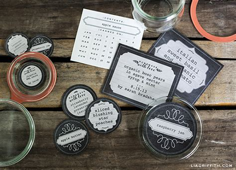 how to make labels for buffet jars printable chalkboard style freezer canning jar labels