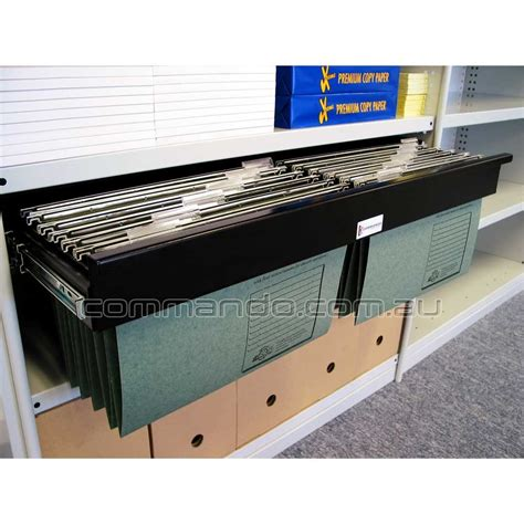 pull out file pull out filing frame accessories commando storage systems