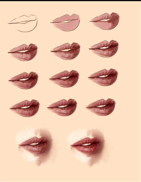 watercolor mouth tutorial realistic lips tutorial by ryky on deviantart