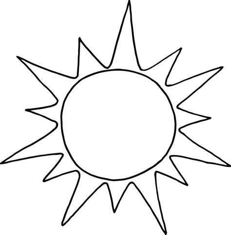 template of the sun sun template printable free loving printable