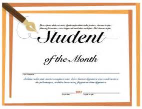 Of The Month Certificate Template by Doc 500302 Free Printable Award Certificates For