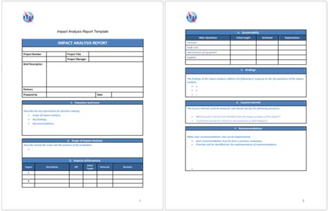 application impact analysis template 5 impact analysis templates for word excel and pdf