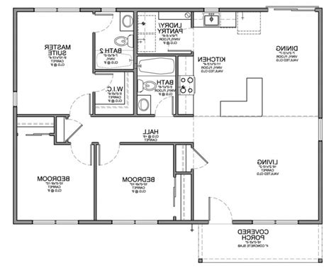 simple house floor plan drawing modern house