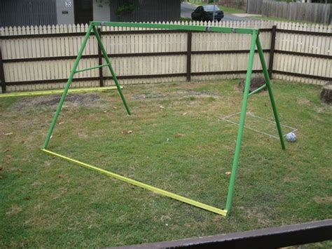 diy metal swing set diy swing set frame chicken coop home design garden