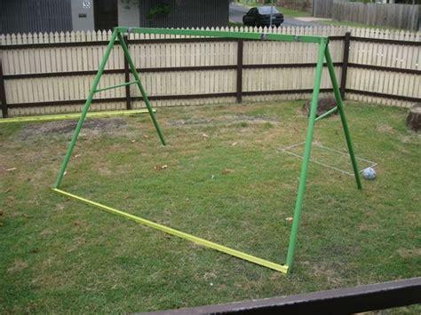 how to build a metal swing set frame diy swing set frame chicken coop home design garden