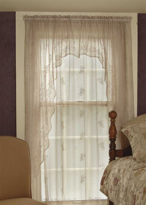 swag sheer curtains lace curtain swag pair divine sheer from sheer divine