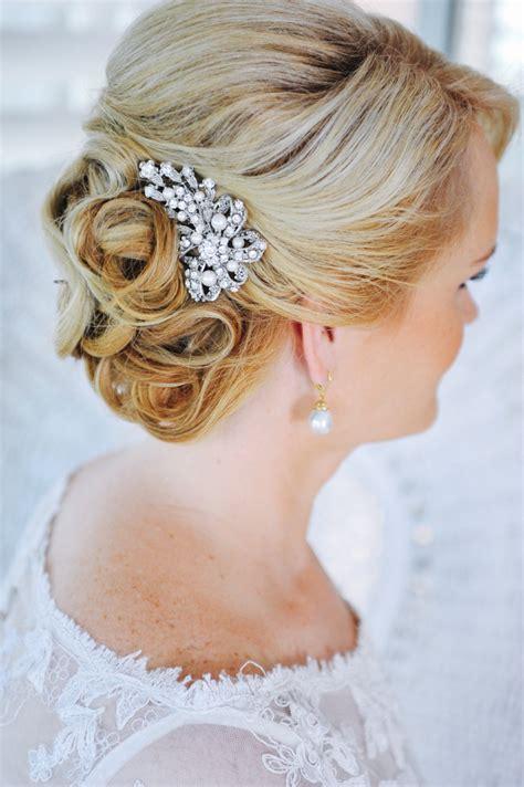bridal hair comb swarovski pearl hair comb vintage