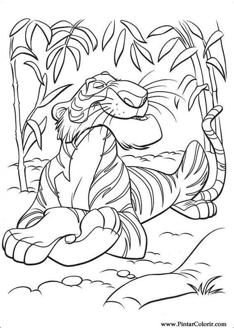 Drawings To Paint & Colour The Jungle Book - Print Design 037