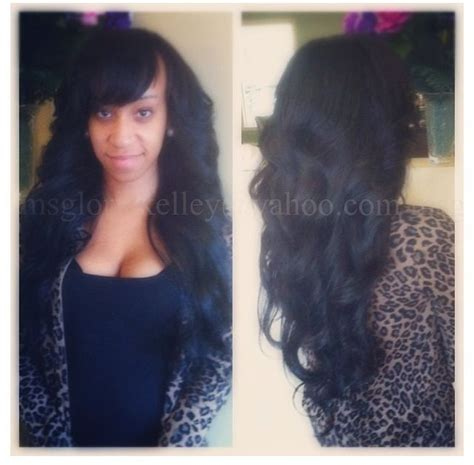 full sew in styles full sew in with a bang weave pinterest sew bangs