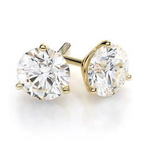 stud earrings 14k and 18k yellow gold princess cut and stud earrings in classic and martini
