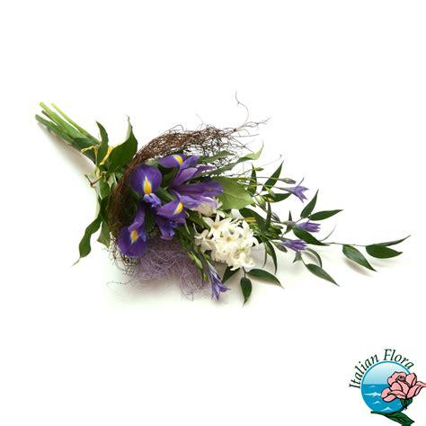 buche di fiori per compleanno bouquet di iris e fiori bianchi