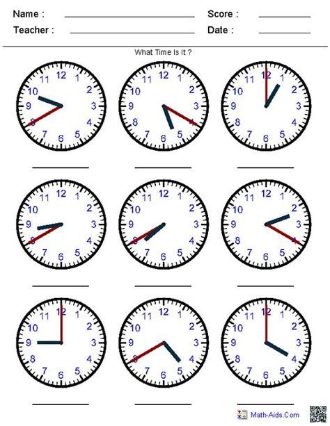 clock worksheets online generate random clock worksheets for pre k kindergarten