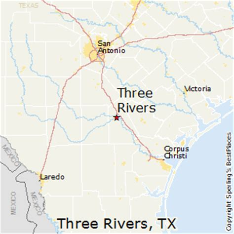 three rivers texas map best places to live in three rivers texas