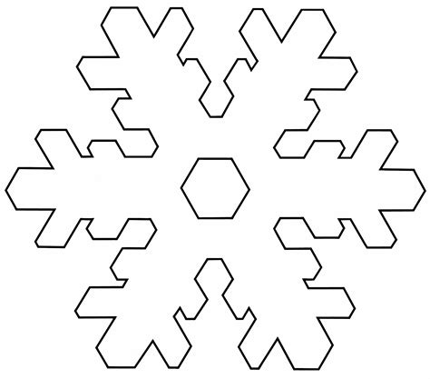 Snowflake Templates Easy free coloring pages of plate templet