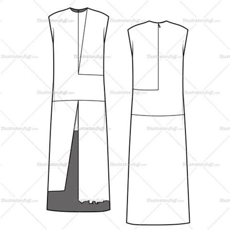 flat drawing template s colorblock tunic dress fashion flat template