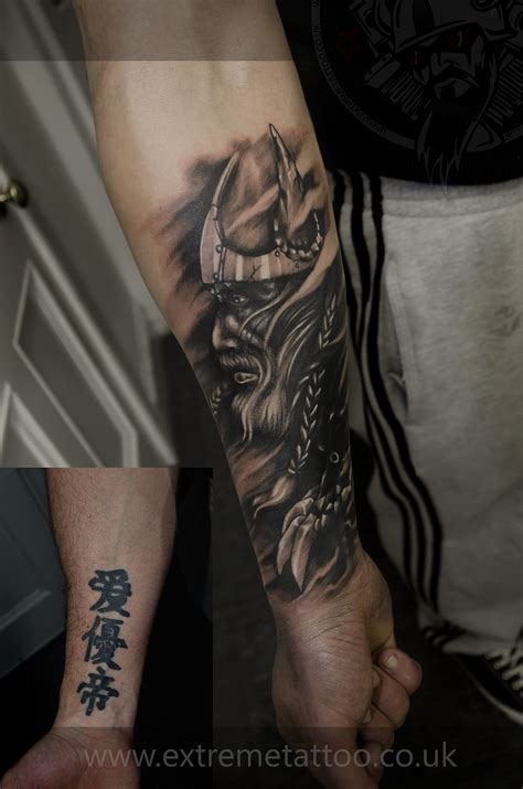 highlander tattoo viking cover up sleeve in progress gabi tomescu