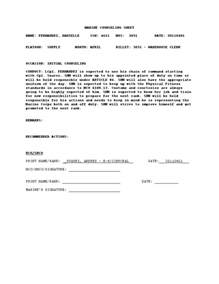 Usmc Counseling Sheet Template by Usmc Counseling Outline