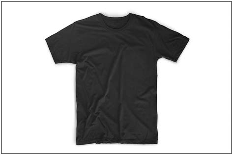 The Best T Shirt Templates Clothing Mockup Generators Black T Shirt Template