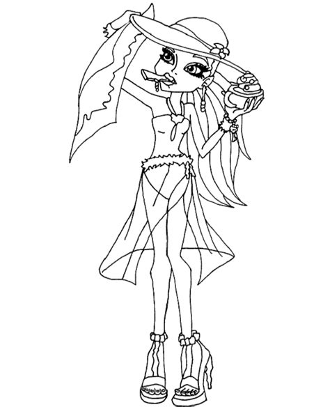 printable coloring pages of monster high dolls printable coloring page with monster high doll