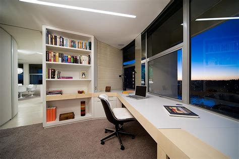 modern home office modern apartment interior design in warm and glamour style